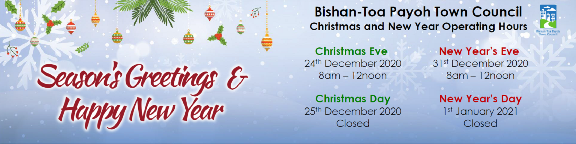 Festive Operations Hours